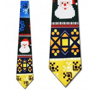 Ugly Santa Sweater Necktie (Navy)