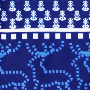 Geometric Holiday Icons - Ugly Sweater Necktie (Blue)