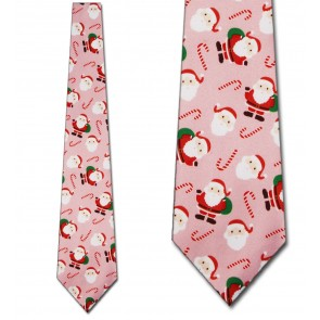 Santa and Candy Canes Allover Necktie