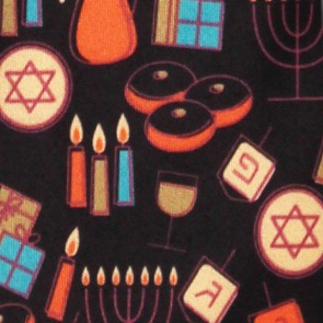 Hanukkah Icons Allover Necktie
