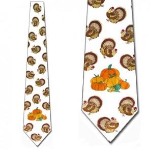 Turkey and Pumpkins Necktie