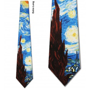 The Starry Night Extra Long Necktie