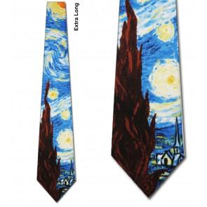 The Starry Night Extra Long Necktie