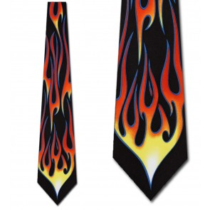 Hot Rod Flame Necktie
