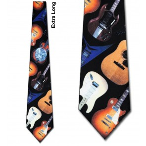 Guitar II Extra Long Necktie