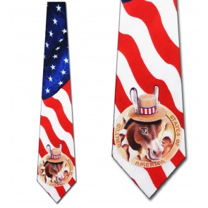 Flag with Democrat Mascot Necktie