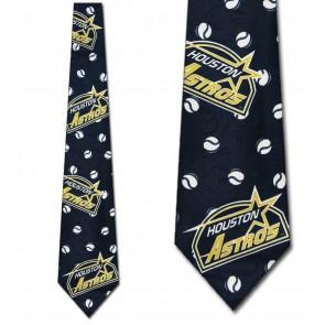 MLB Baseballs - Astros Necktie