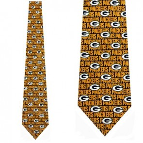 NFL Greenbay Packers type logo Necktie
