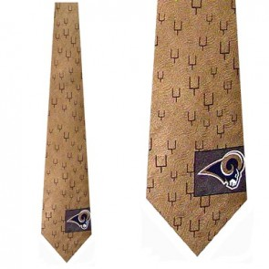 NFL St. Louis Rams Goal Posts Tan Necktie