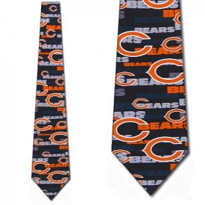 NFL Chicago Bears Stamped Necktie