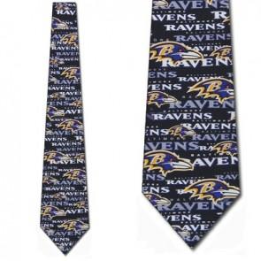 NFL Baltimore Ravens Stamped Necktie