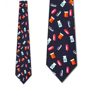 Pills Allover Necktie