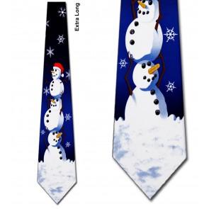 Big Snowman Extra Long Necktie