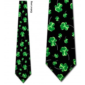 Shaded Clovers Extra Long Necktie