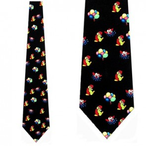 Clown and Balloons Allover Necktie