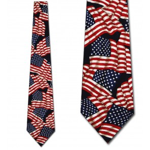 Medium Flags Allover Necktie