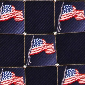 US Flag Block Pattern Necktie