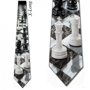 Chess Perspective Extra Long Necktie