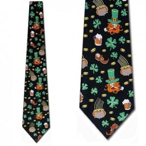Leprechaun Icons Necktie