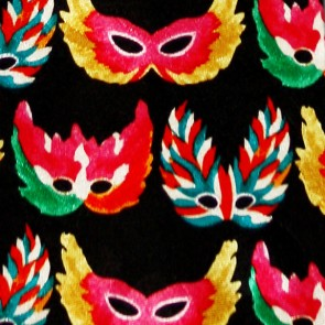 Feathered Mardi Gras Masks Tie