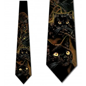 Black Cat Necktie