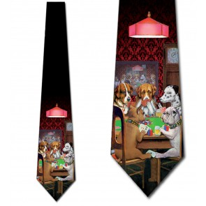 Dogs Playing Poker Necktie