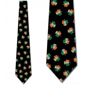 Irish Flag Clovers Necktie