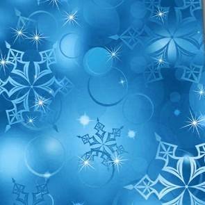 Winter Snowflake - Blue Necktie