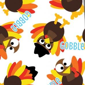Thanksgiving Turkey Gobble - White Neckties