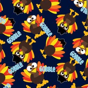 Thanksgiving Mini Gobble - Navy Neckties