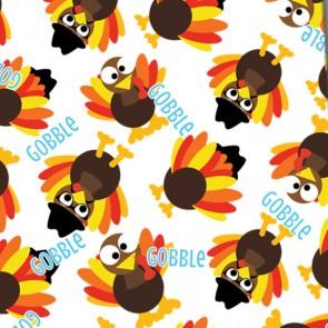 Thanksgiving Mini Gobble - White Neckties