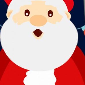 It's Santa Claus! - Navy Necktie