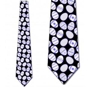 Easter Eggs Allover - Purple Necktie