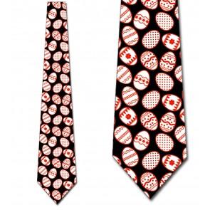 Easter Eggs Allover - Red Ties Neckties
