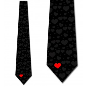 Simple Hearts Necktie