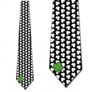 Simple Clovers - White Necktie