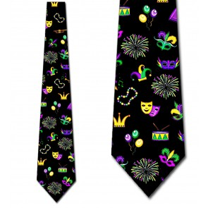 Mardi Gras Icons Allover Necktie