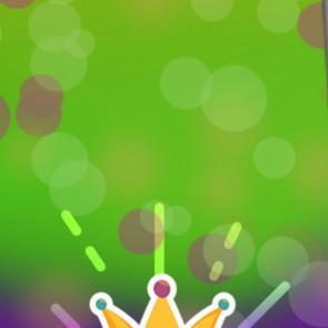 Colorful Mardi Gras Symbol Necktie