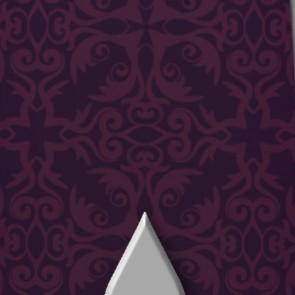 Simple Silver Fleur de Lis  Necktie