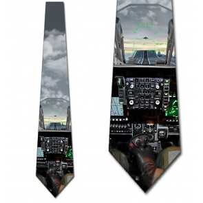 Jet View From A Carrier Ship Necktie