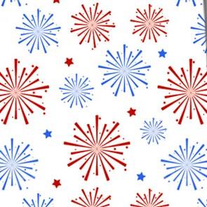 Blue and Red Patriotic Fireworks Necktie