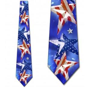 Patriotic US Flag Stars Necktie