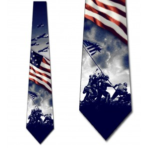 World War II - Patriotic Symbols Navy Necktie