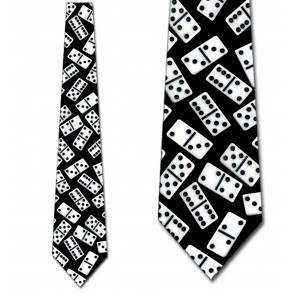 Dominoes on Black Necktie