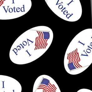 I Voted Sticker - Black Necktie
