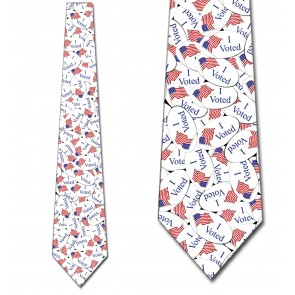 I Voted Sticker - Allover Necktie