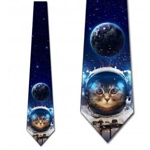 Astronaut Cat Necktie