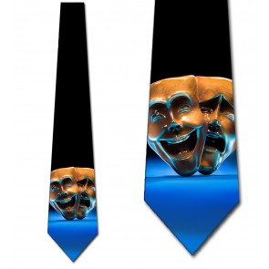 Comedy and Tragedy Masks Necktie