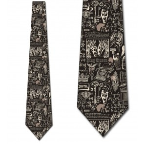 Vintage Drama Icons Necktie