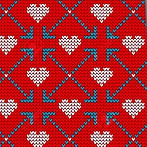 Valentine's Knit Pattern Necktie